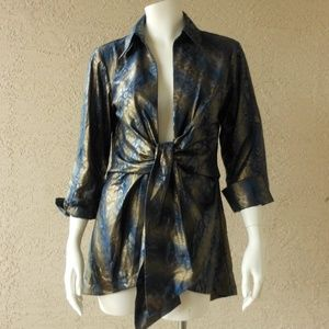 Tie Front Light Weight Jacket Topper